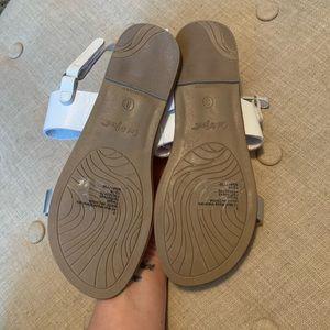 Cat & Jack Shoes - NWT Cat & Jack Magalie Silver Ankle Strap Sandals